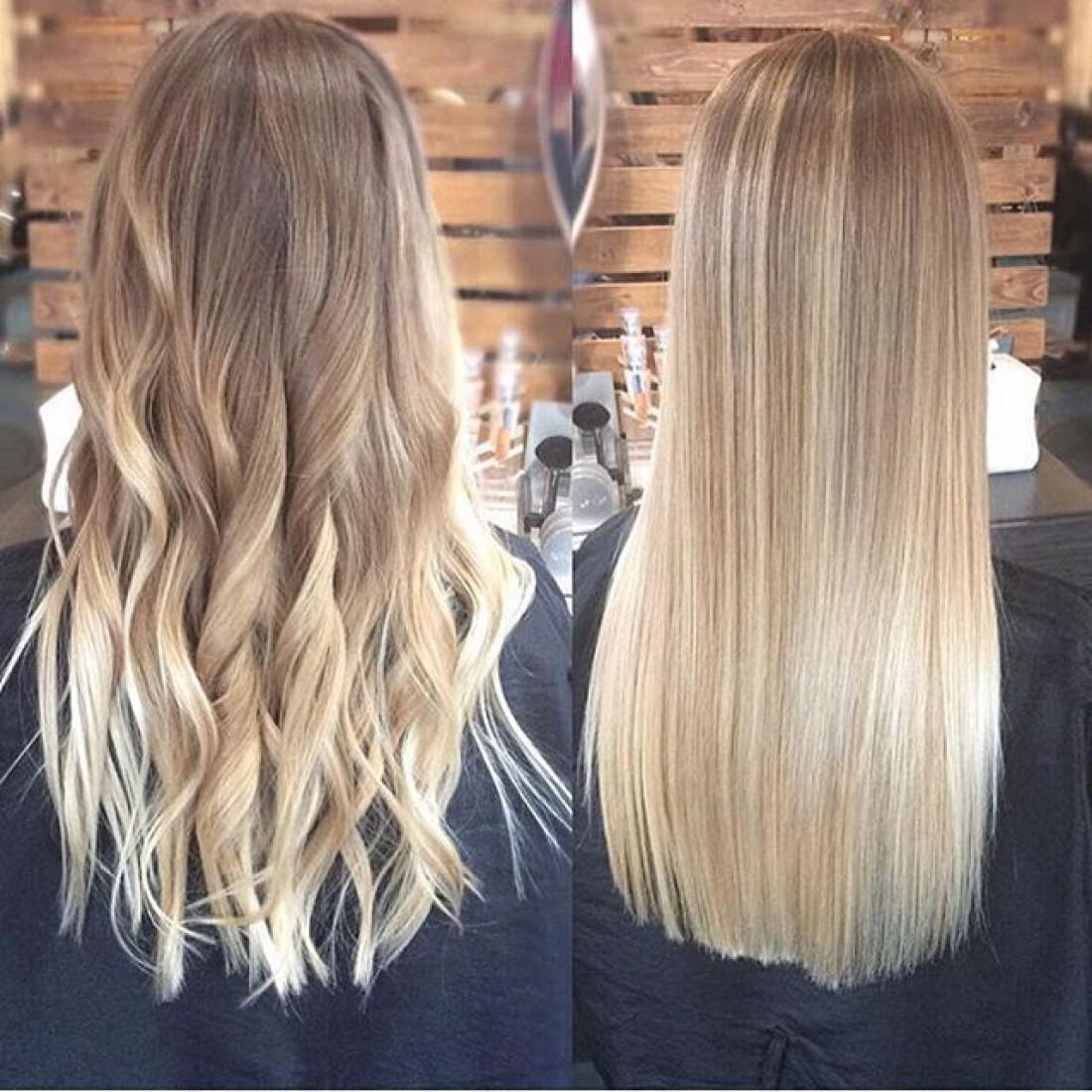 Омбре для блондинок: варианты окрашивания и фото-примеры 35