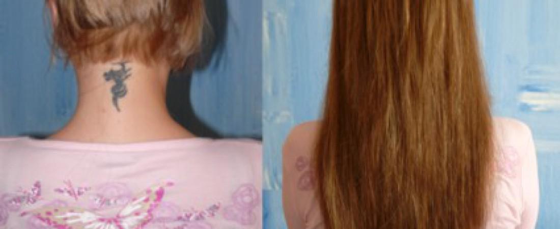 Kurze Haare mit Extensions verlängern